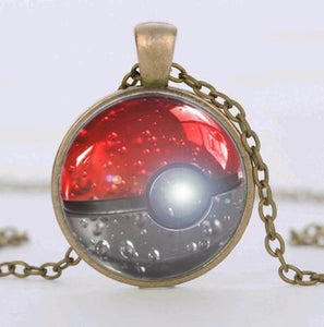 Shining PokeBall Silver Collar Pendant - nintendo-core