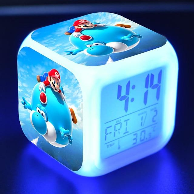 Super Mario  LED Alarm Thermometer Dice Clock - nintendo-core