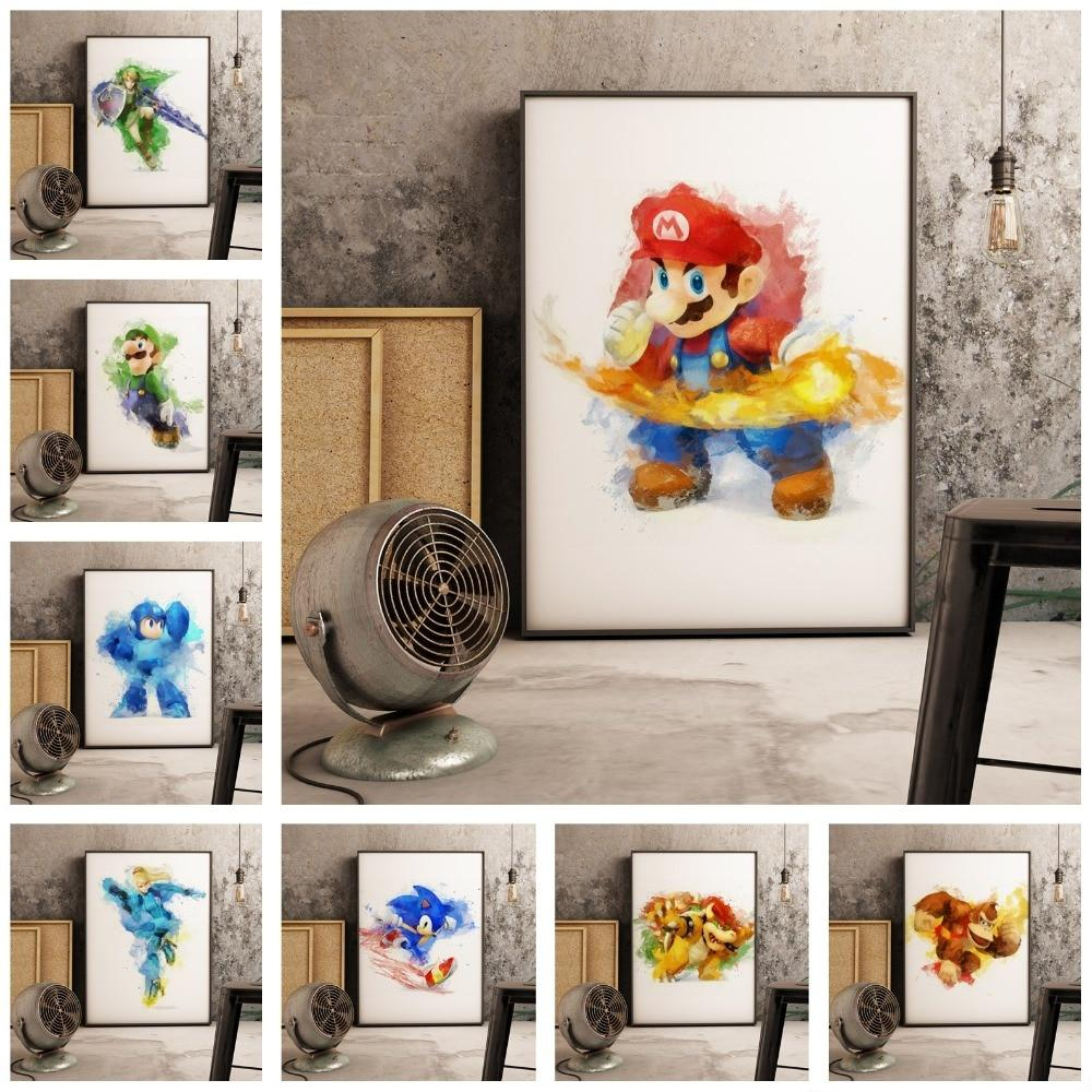 Super Smash Brothers Canvas Art - nintendo-core
