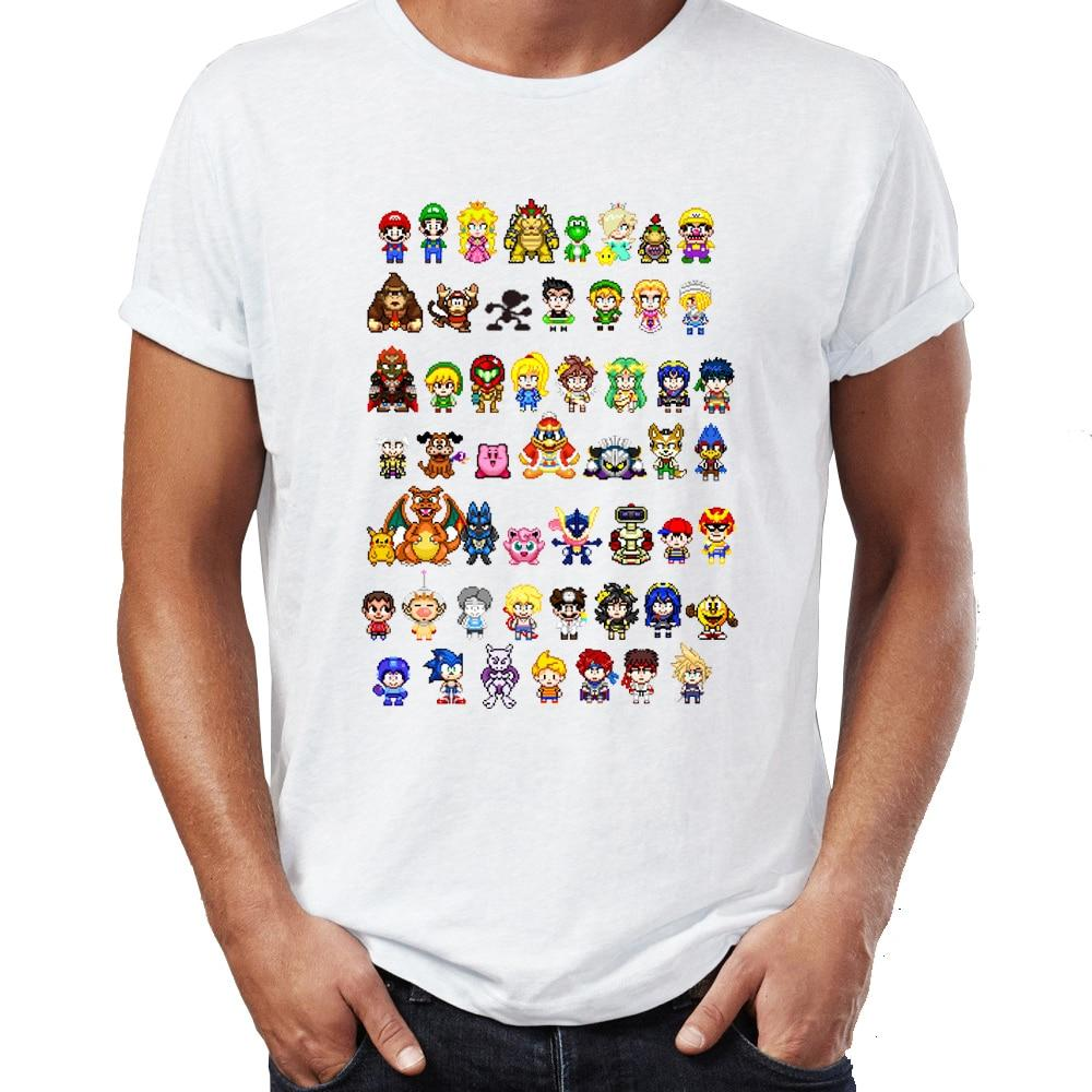 Super Smash Brothers Characters Shirt - nintendo-core