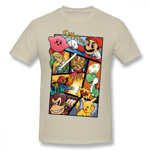 Super Smash Brothers Collage T Shirt - nintendo-core