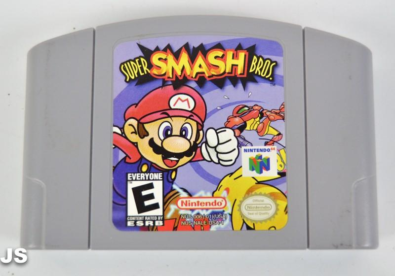 Super Smash Brothers Nintendo 64 Game Cartridge - nintendo-core