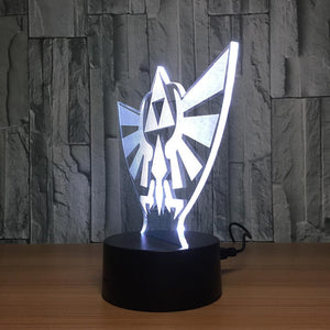 The Legend of Zelda - 7 Color Changing Visual Illusion Lamp - nintendo-core