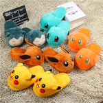 Unisex Snorlax / Eevee / Pikachu / Squirtle / Charmander Warm Indoor Plush Slippers - nintendo-core