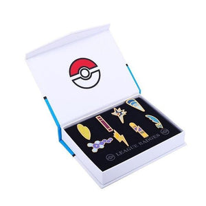 Pokemon League Gym Badge Brooches Pin Set