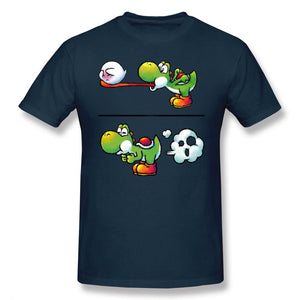 Yoshi Eating Boo Fitted T Shirt - nintendo-core