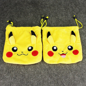 Felt Plush Pokemon Tote Drawstring Bags (Backpacks)