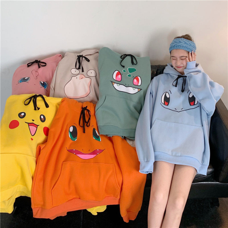 Over Sized Poke-Hoodies | Kawaii Starters