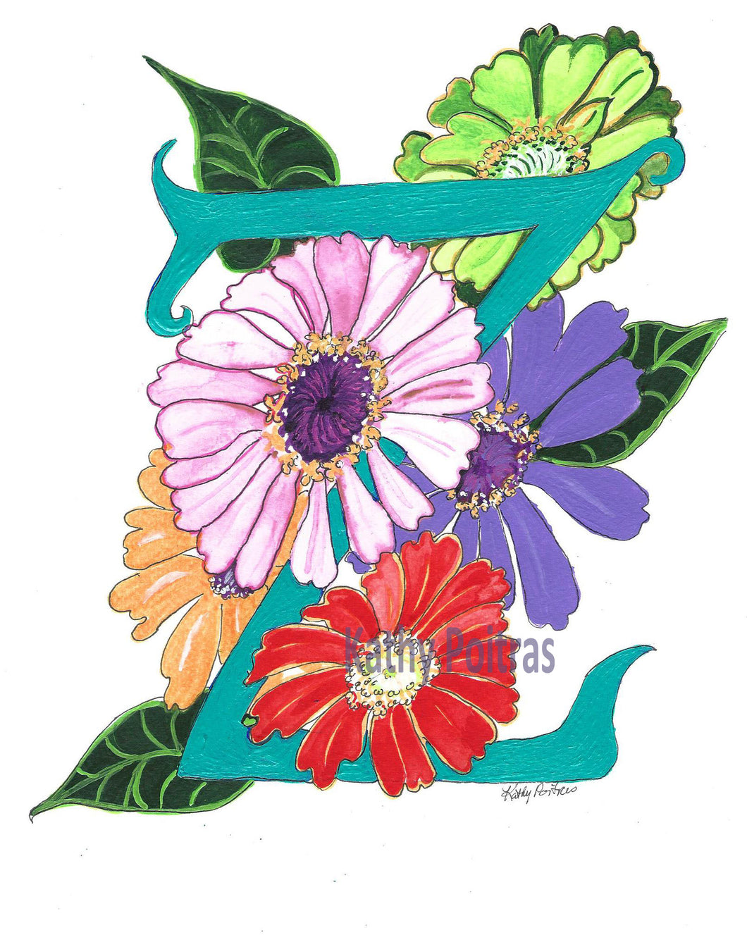 Z is for Zinnia Flowers