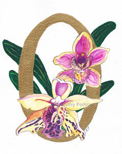 Illustrated Letter O  is for Orchids
