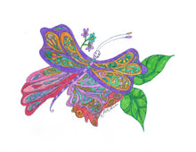 Print your own, color your own Butterfly with Happy Face