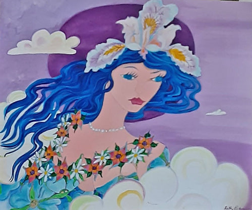 Orchid Princess.  Acrylic painting on gallery canavas
