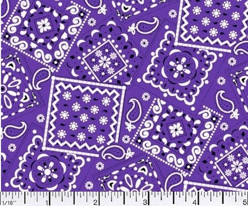 purple bandana fabric