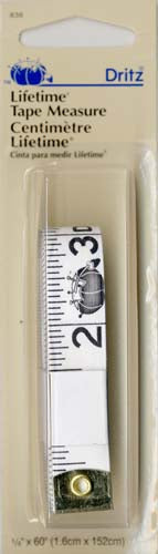 "5/8"" x 60"" white, vinyl tape measure. DRI838"