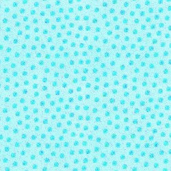 Bazooples Tossed Dots Blue Fabric BTY