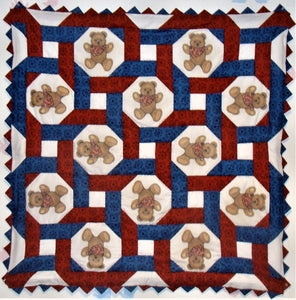 Bears Intertwined Western Baby Quilt Kit*