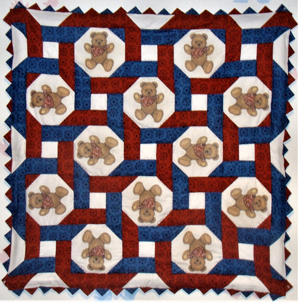 Bears Intertwined Western Quilt Pattern