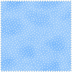 Comfy Flannel Blue w/ Dots Fabric BTY