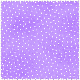 Comfy Flannel Lavender w/ Dots Fabric BTY
