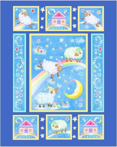 Counting Sheep Pre-quilted Baby Panel 14