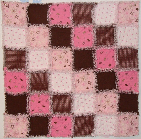 Baby Cowgirl Rag Quilt Kit*