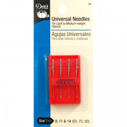 Universal Sewing Machine Needles Assorted Sizes, 9 11 14,  4ct