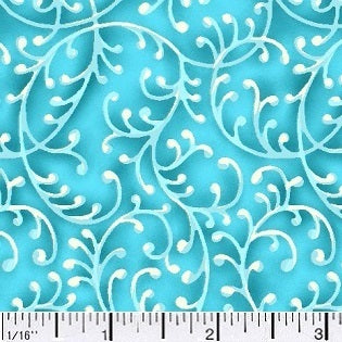 Free Way Turquoise Blue Cotton Fabric BTY