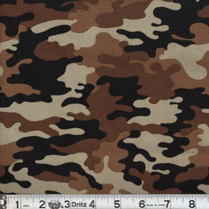 Kickin Camo Desert Cotton Fabric BTY