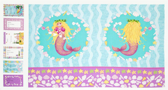 Mermaid Wishes Panel Fabric Quilting Fabric Supplier