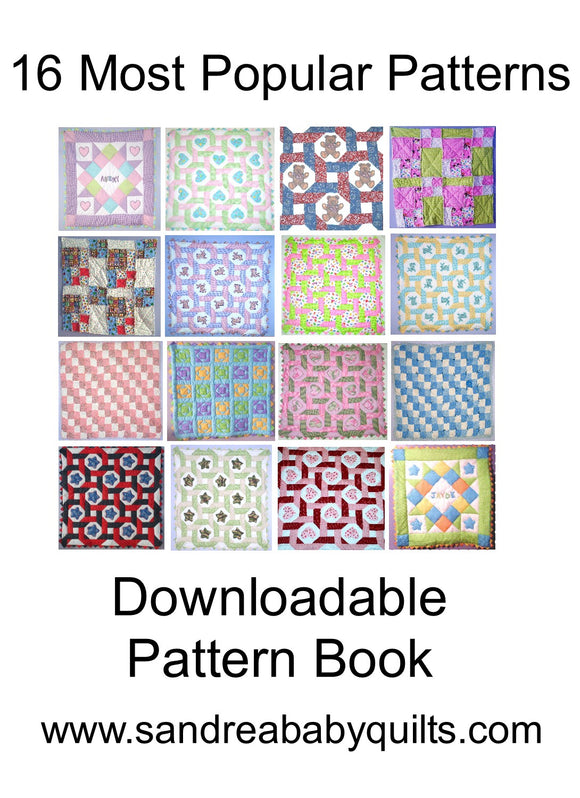 Baby Quilt Pattern Book - 16 of Our Most Popular Patterns!