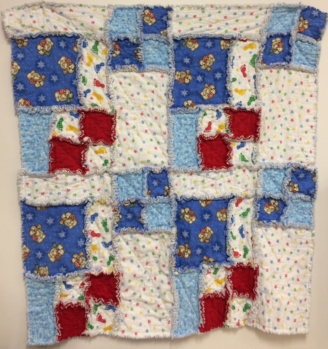 Patchwork Quilt For A Boy: Baby Boy Rag Patchwork Quilt Kit*