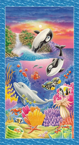 "Sea World Wall Hanging Panel 24"" x 44"""