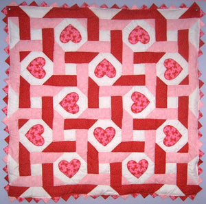 Hearts Intertwined Baby Quilt Kit*