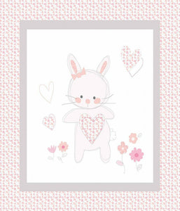 Bunny Love Quilt Top Panel Fabric 19268