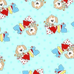 Comfy Flannel Puppies Fabric BTY