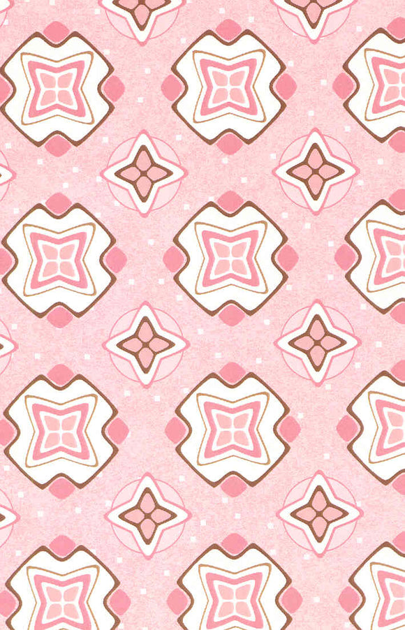 Mosaic Toss Pink 100% Cotton Fabric 63289 BTY