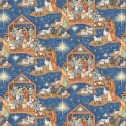 Nativity Scene Fabric 20226 BTY
