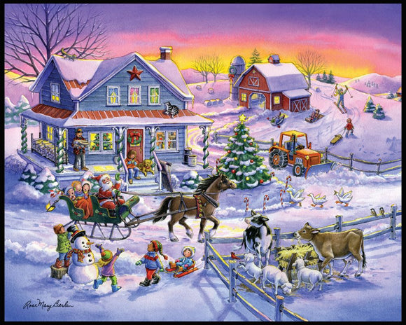 Country Christmas Panel by Rose Mary Berlin