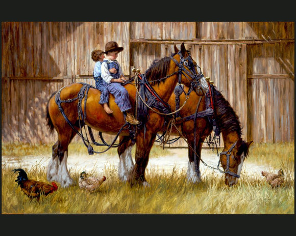 Back to the Barn by Jim Daly Panel