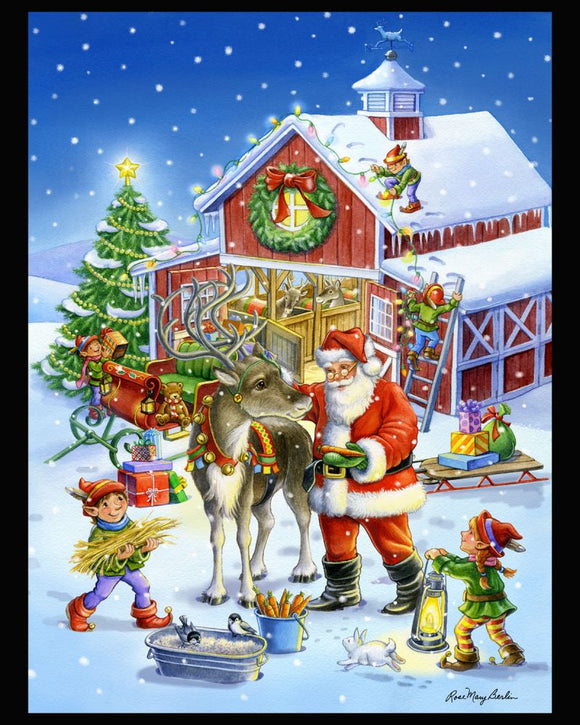 Ready Rudolph by Rose Mary Berlin - Christmas Panel