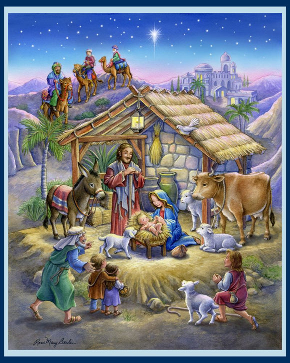 Nativity Scene by Rose Mary Berlin Christmas Panel