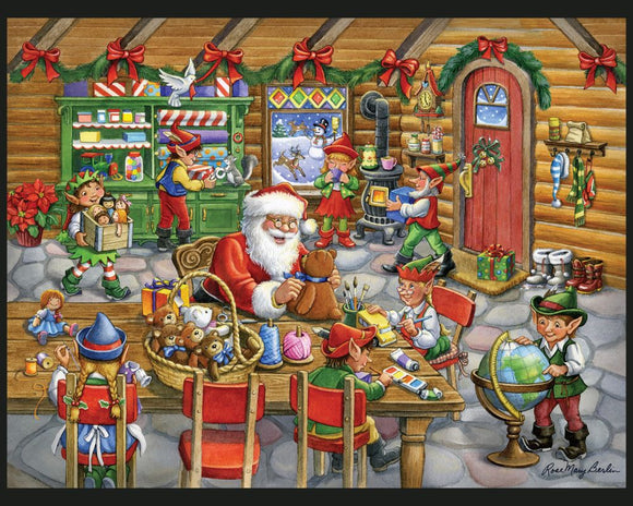 Santa's Toy Shop by Rose Mary Berlin - Christmas Panel