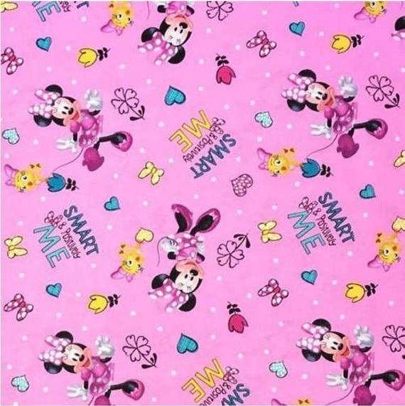 Disney Positively Minnie Pink Toss Fabric