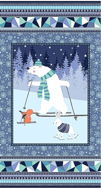 Snow Happy Panel Fabric