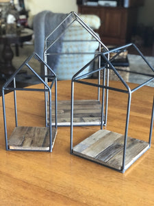 Wood and Metal House Frame