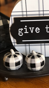 Pumpkin Salt and Pepper Shaker Set