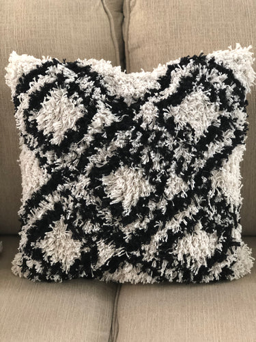 Black and White Boho Pillow