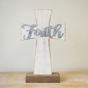 Wood and Metal Tabletop Crosses