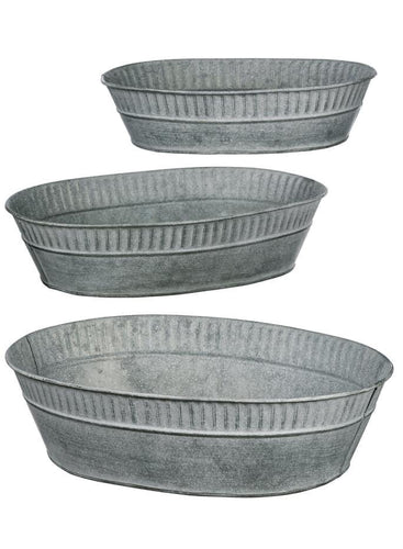 Set of Three Metal Trays
