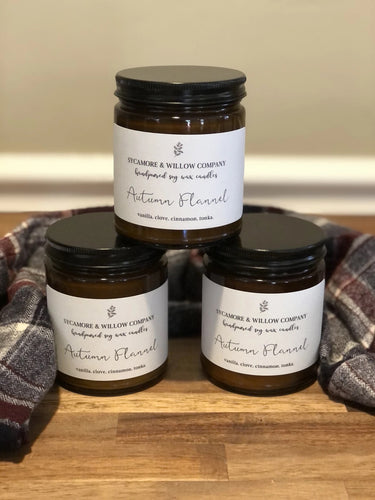 Autumn Flannel Candle